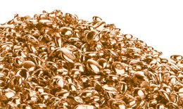 Rose gold grain used for casting