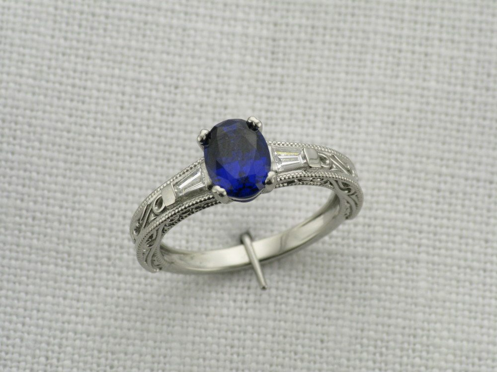 Edwardian inspired ring. See more details about this project here.