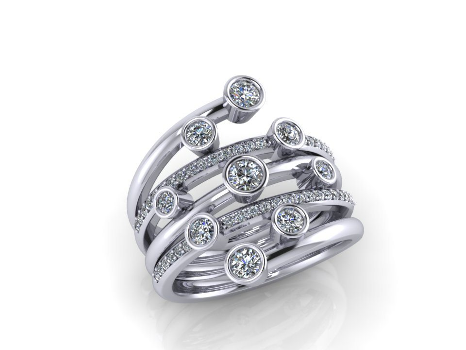 Wrap around diamond ring