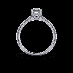 Custom made diamond encrusted solitaire