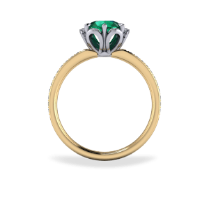 Emerald cluster style ring