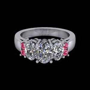 Chunky multistone ring