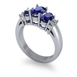 Beautiful sapphire eternity ring