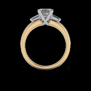 Three stone cross over diamond ring