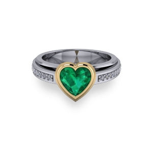 Pretty bezel set heart3