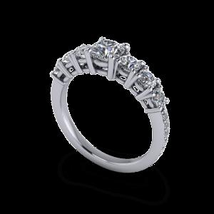 seven stone eternity ring
