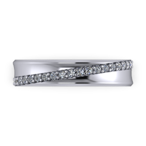 Concaved eternity ring