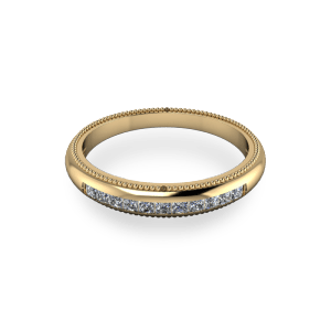 yellow gold princess cut eternity band