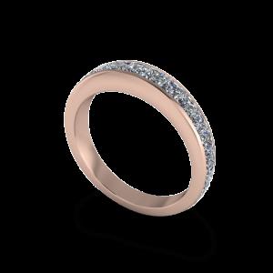 14kt rose gold channel set ring