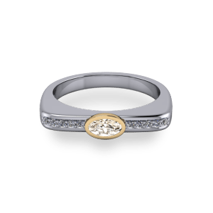 Bezel set champagne diamond