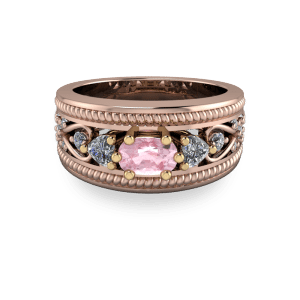 18kt rose gold cocktail ring