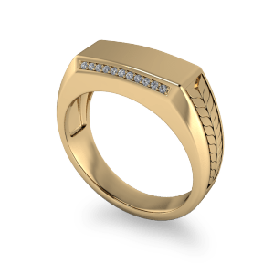 Wheat patterned wedding band