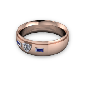 trillion and baguette diamond ring