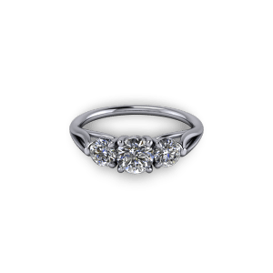 Diamond Three Stone Eternity Ring