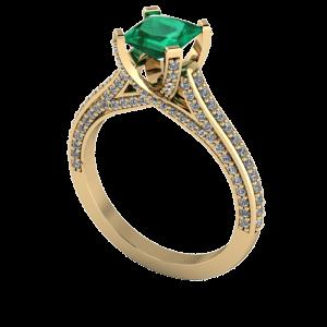 Diamond encrusted engagement ring