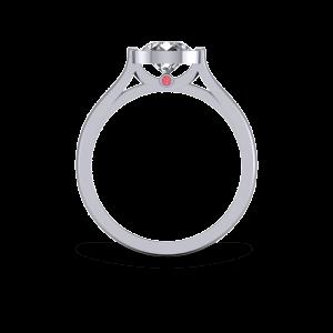 Modern bezel set engagement ring