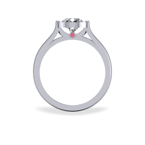 Modern bezel set engagement ring