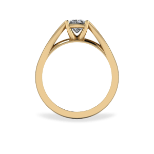 18kt yellow gold catherdal solitaire
