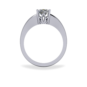 Four claw diamond ring