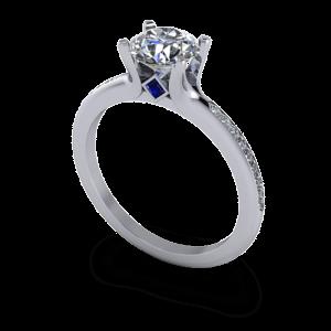 diamond ring with hidden sapphire