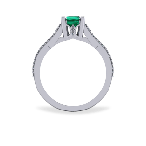 Emerald encrusted ascher cut