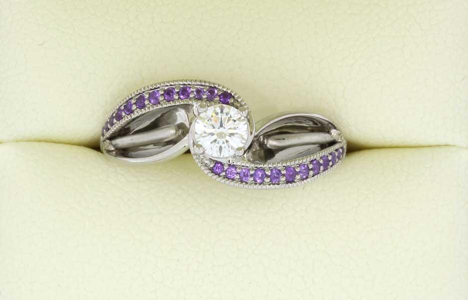Designer+Flower+style+engagement+ring