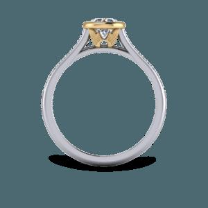 Mixed metal, Wings, Bezel, Bespoke engagement ring, Gothic