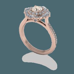 peak stone, art deco, vintage, ballerina, rose gold