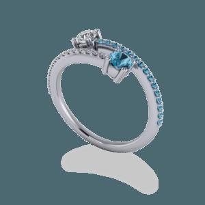 blue topaz, diamond, topaz, platinum, bypass