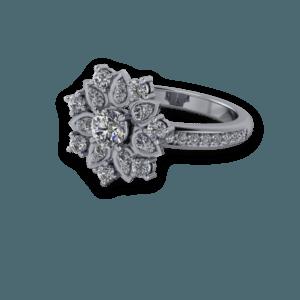 diamond, Cluster, platinum, claw set