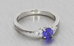 Amethyst and Opal Cluster with Custom Engraving  - Portfolio