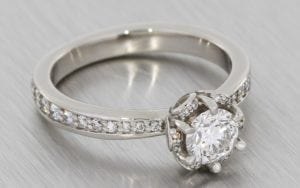 Diamond Petal Halo Engagement ring