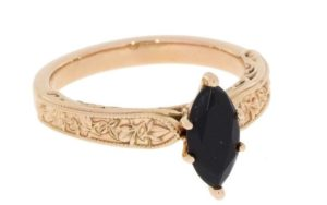 Vintage inspired Rose Gold Filigree Engagement Ring - Portfolio