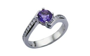 Amethyst and diamond engagement Bypass ring - Ring of the Week - Portfolio