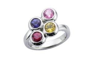 Bespoke anniversary birthstone ring - Portfolio