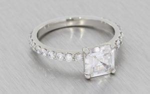 Beautiful Asscher Cut Ring Set - Portfolio