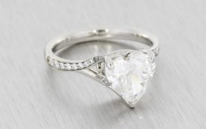 Heart Shaped Diamond Ring - Portfolio