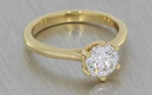 18ct Yellow Gold Six Claw Crafted by Infinity Diamond Solitaire