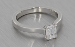 Emerald Cut Diamond Solitaire