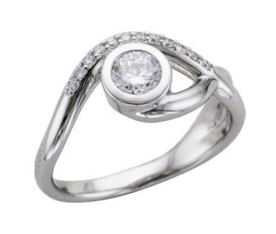 Get the Look: Bezel Set Engagement Rings