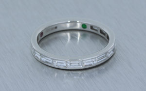 Baguette Diamond Channel Set Band