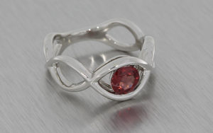 Spinel & Platinum Ring