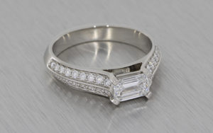 Princess Cut Lab Grown Diamond Ring