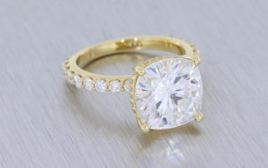 Cushion Moissanite Engagement Ring